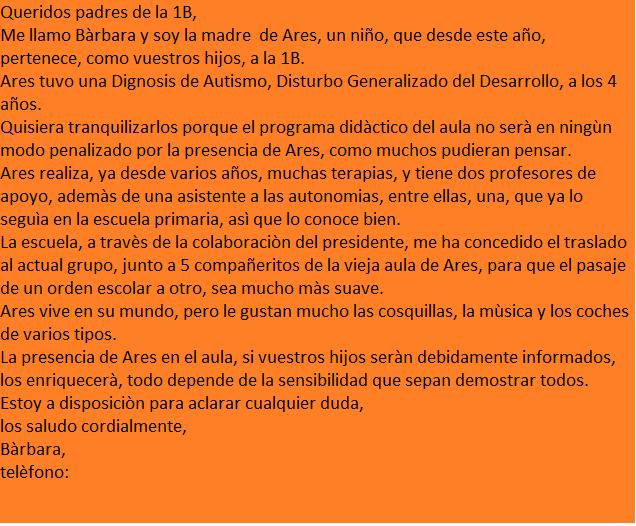 carta a los padres espanol